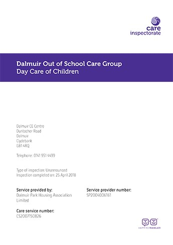Doscg Care Inspection Report 2018